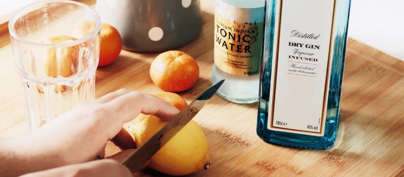 En Gin & Tonic med Tanqueray No. 10.